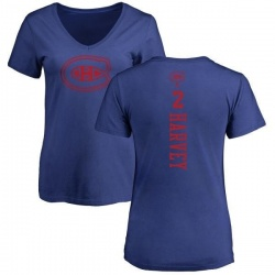 Women's Doug Harvey Montreal Canadiens One Color Backer T-Shirt - Royal