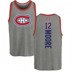 Youth Dickie Moore Montreal Canadiens Backer Tri-Blend Tank Top - Ash